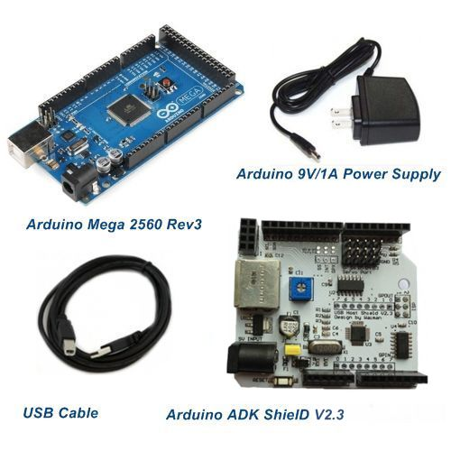 Mega 2560 rev3 and adk shield for android starter kits arduino compatible ebay Arduino mega 2560 motor shield
