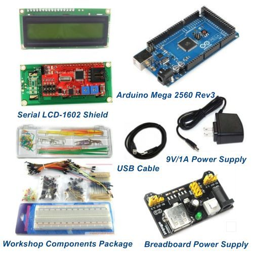 Mega 2560 rev3 starter package kits with lcd1602 shield arduino compatible Arduino mega 2560 motor shield