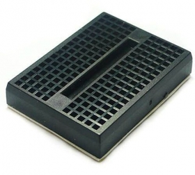 Mini Self-Adhesive Black Breadboard