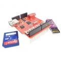 USB-SD MP3 Shield With 64Mbit Flash And Audio Amplifier