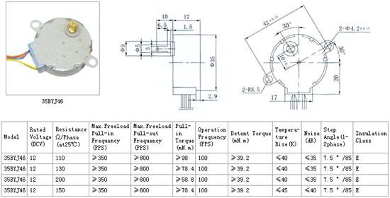 35byj-46 Stepper Motor 12v