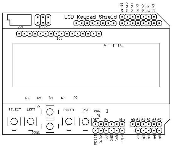 Keypad lcd shield emartee