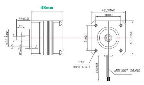 42bygh47-401a stepper motor 24v